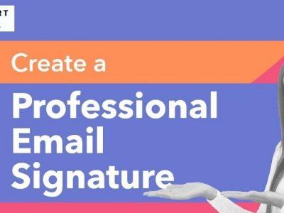 Create a Unique Professional Email Signature